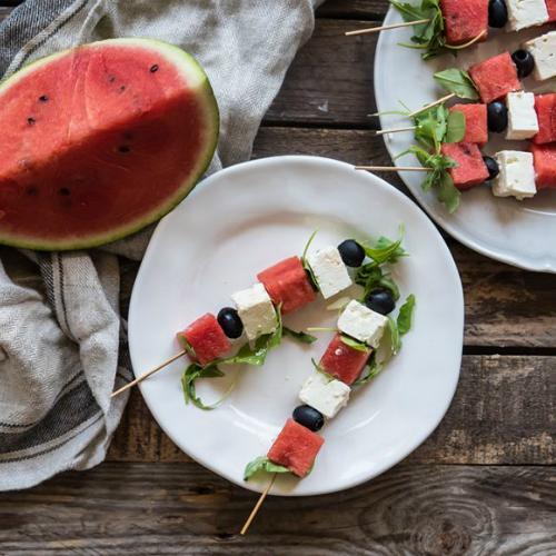 spiedini di anguria, una ricetta facile e leggera