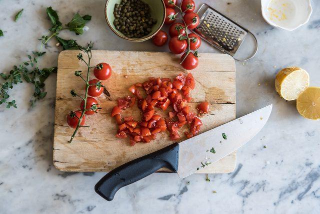 tartare di pesce spada pomodorini
