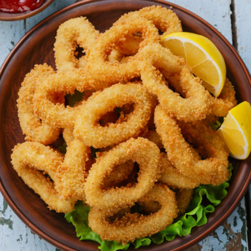 fritto di calamari, ricetta light