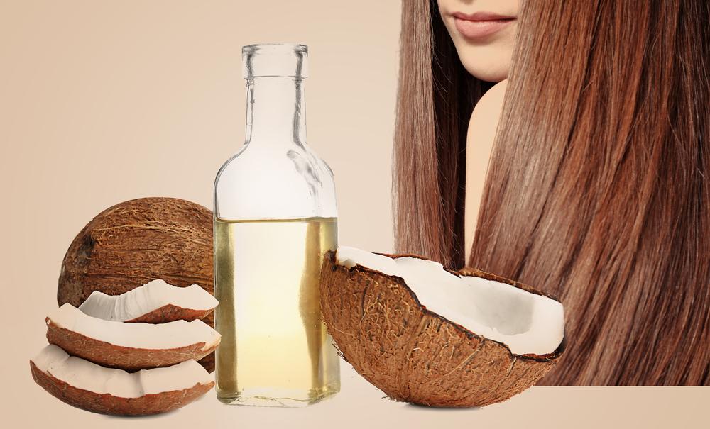 olio di cocco per i capelli