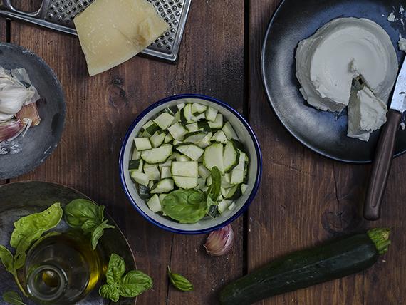 pesto zucchine ricotta