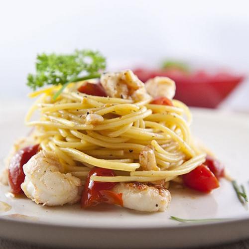 spaghetti agli scampi