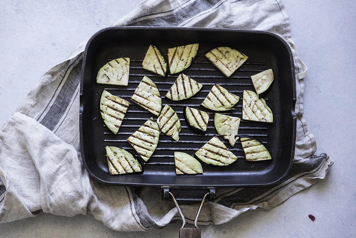spiedini di verdure, come grigliare le melanzane