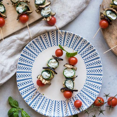 spiedini di verdure, una ricetta light