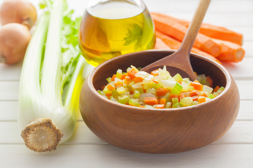Tra i tagli delle verdure scopri il Mirepoix