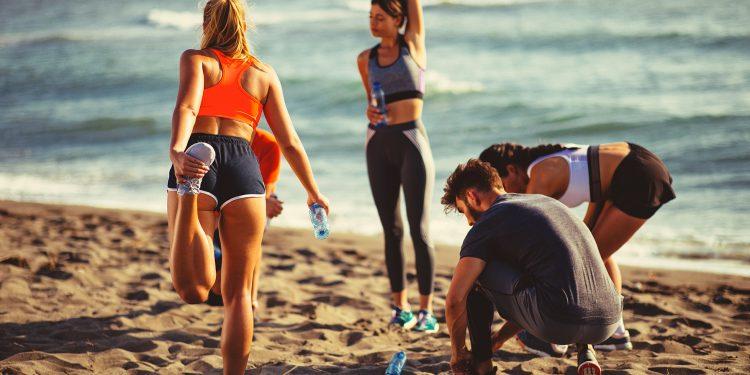 tonificazione muscolare al mare