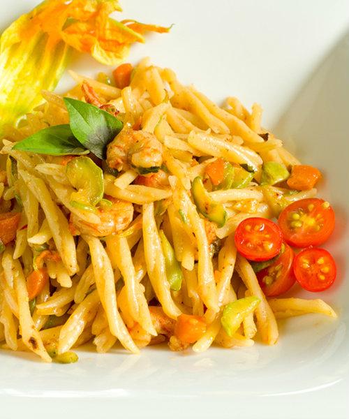 ricetta trofie zucchine e gamberetti