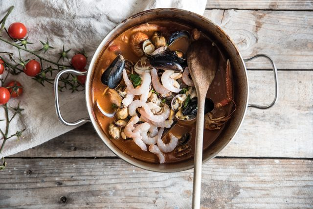 zuppa di pesce, cuoci