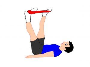 esercizio-addominali-glutei-elastico
