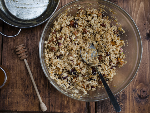 granola frutta croccante