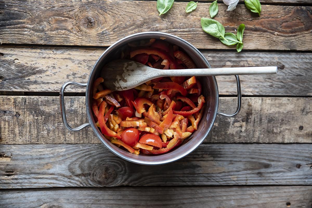 pasta crema pomodori due