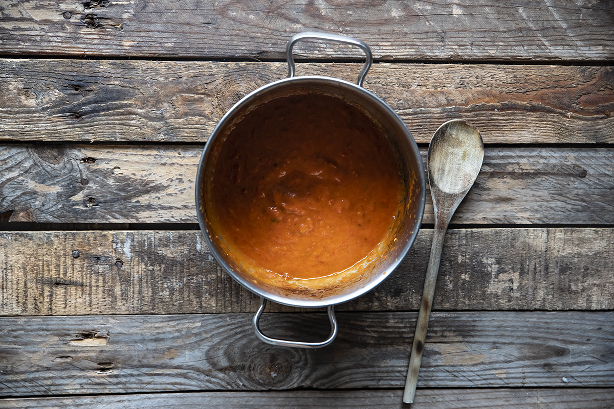pasta crema pomodori quattro