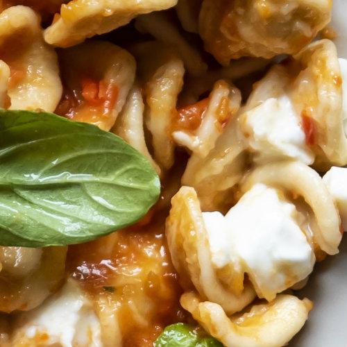 pasta crema pomodori