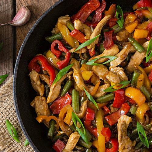 pollo al limone nella wok
