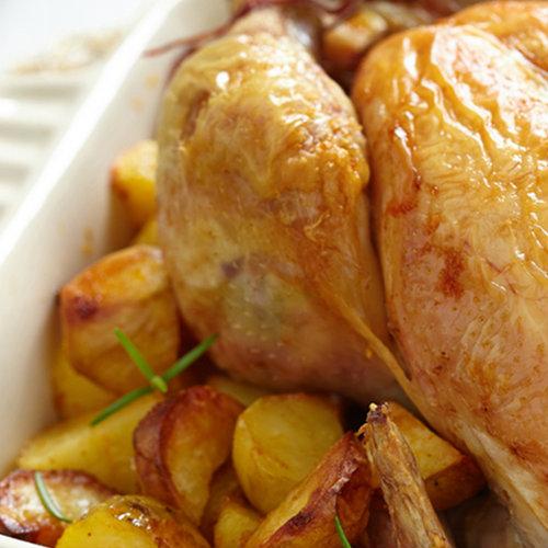 pollo forno patate