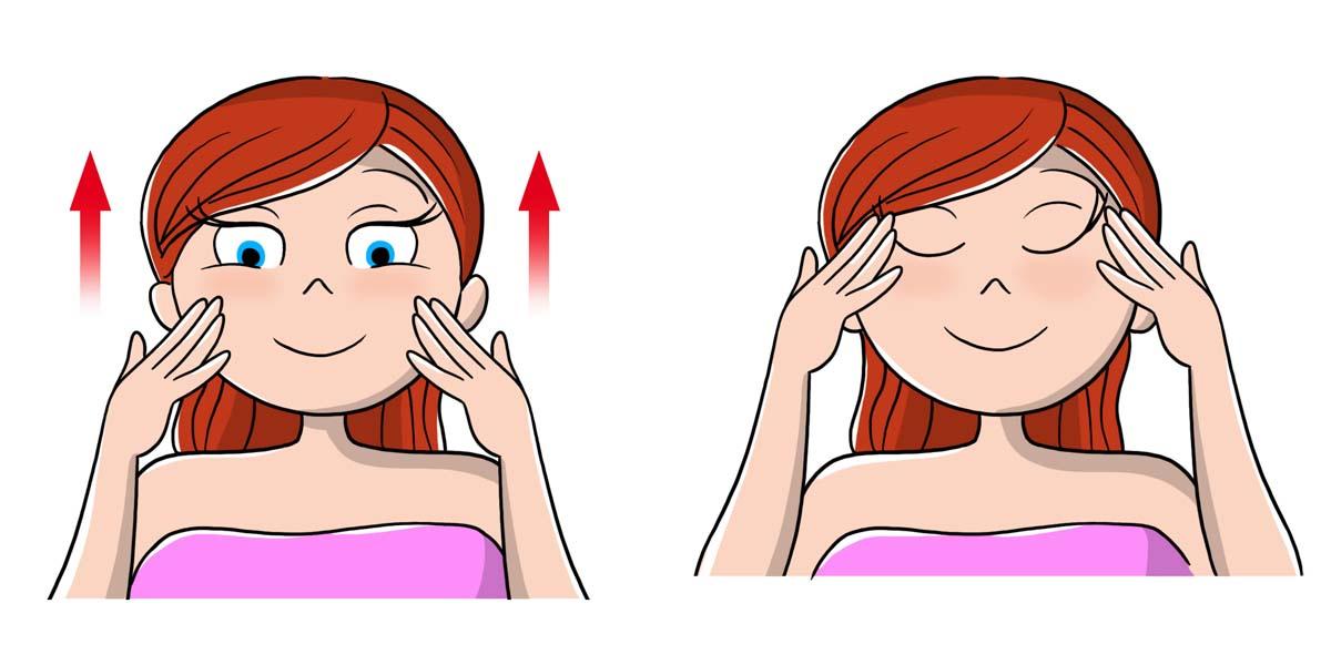 scrub viso: massaggio