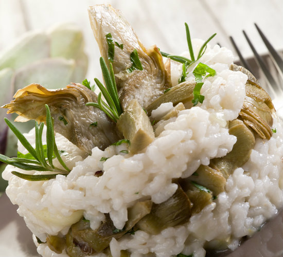 risotto carciofi light