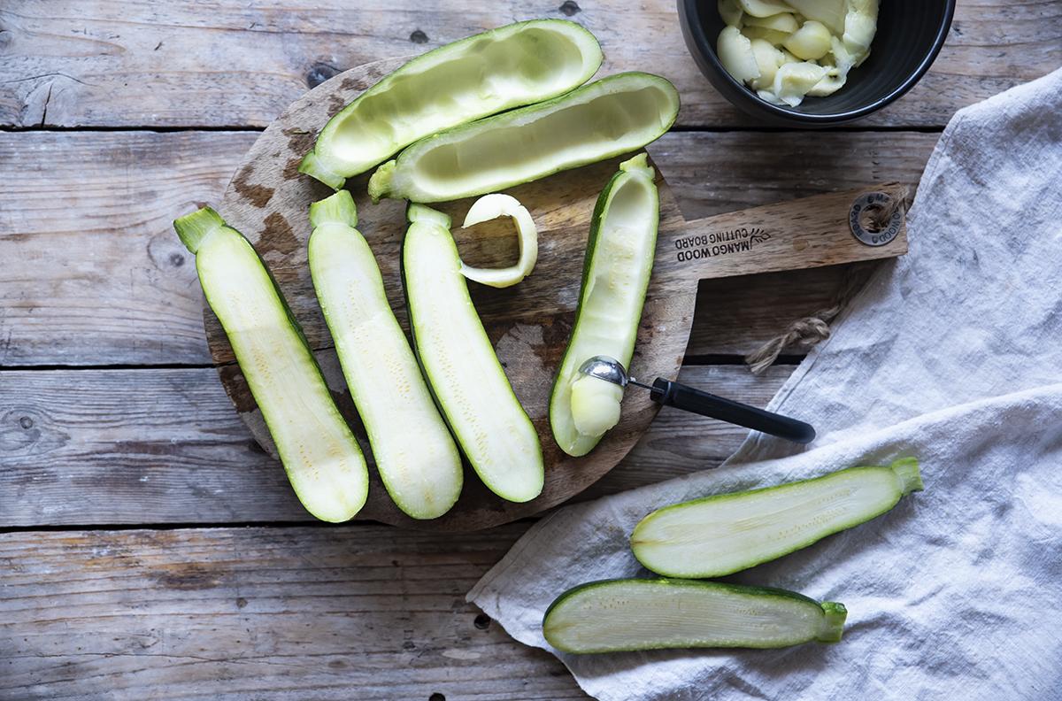 zucchine ripiene prima