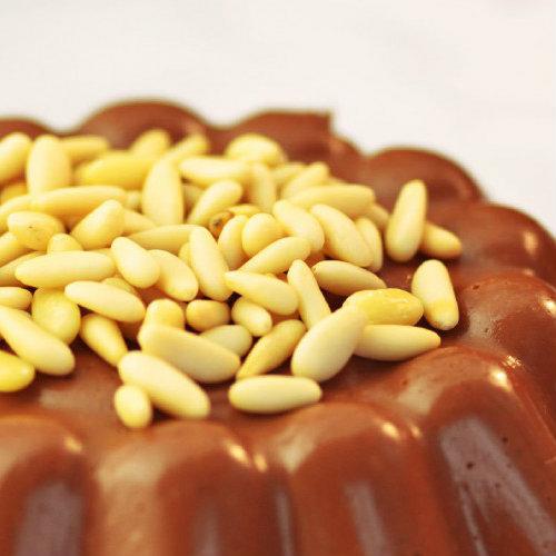 Budino farina castagne cioccolata pinoli