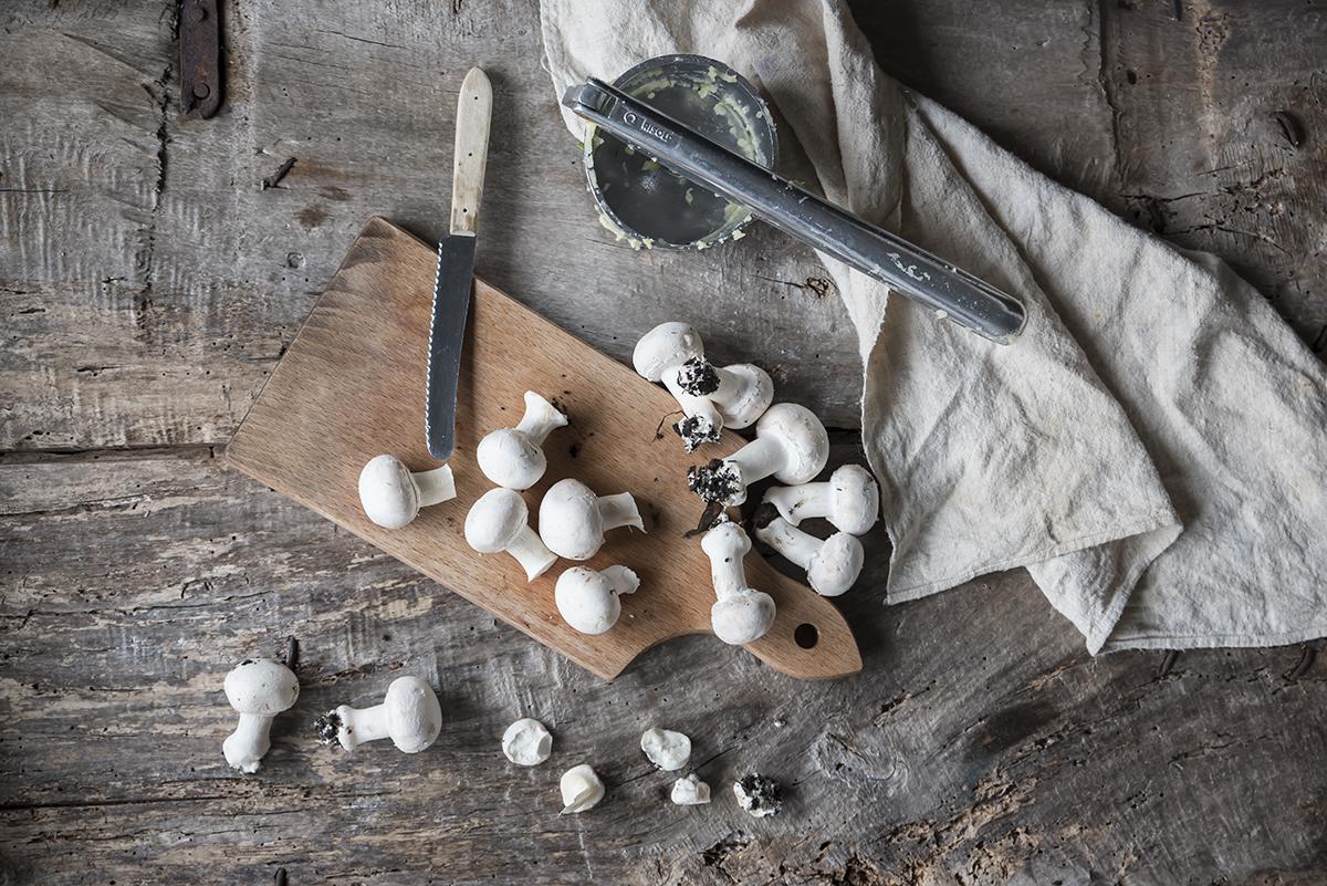 Ricetta gateau patate e funghi tagliare funghi