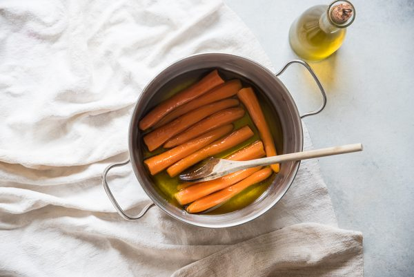 carote in agrodolce scotta verdure