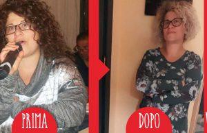 Luciana prima dopo dieta Melarossa