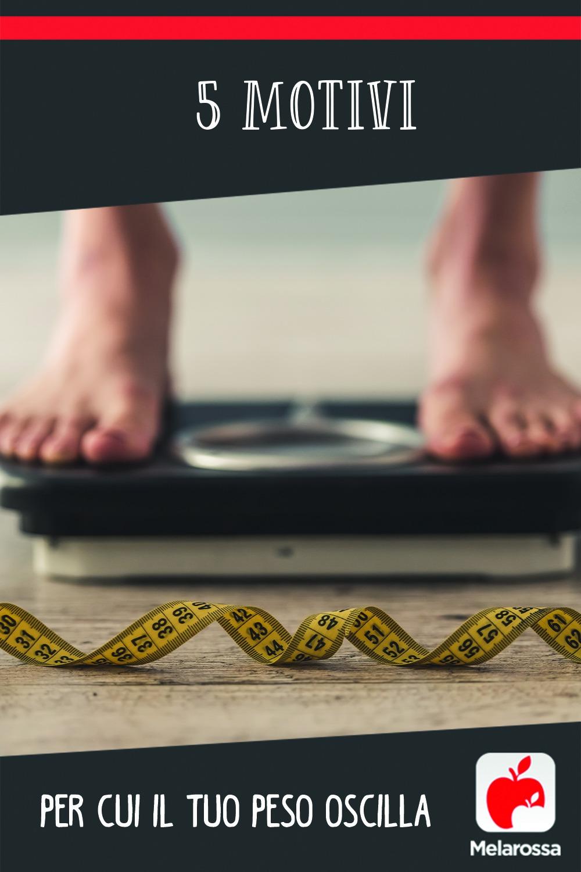 motivi per cui il tuo peso oscilla