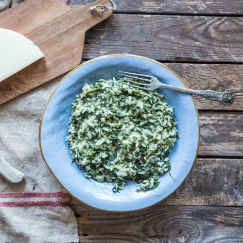 risotto provola e spinaci