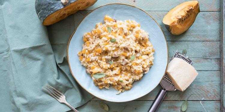 Ricette con la zucca: risotto zucca e porcini