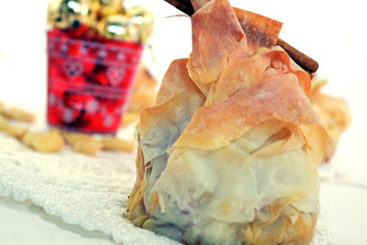 Ricette con le mele: cestini di pasta fillo
