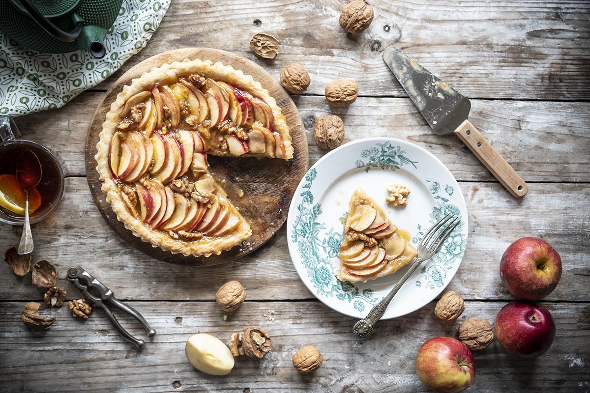 Ricette con le mele: crostata di mele e noci