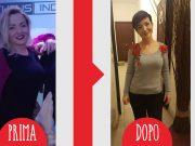 Sara prima e dopo dieta Melarossa