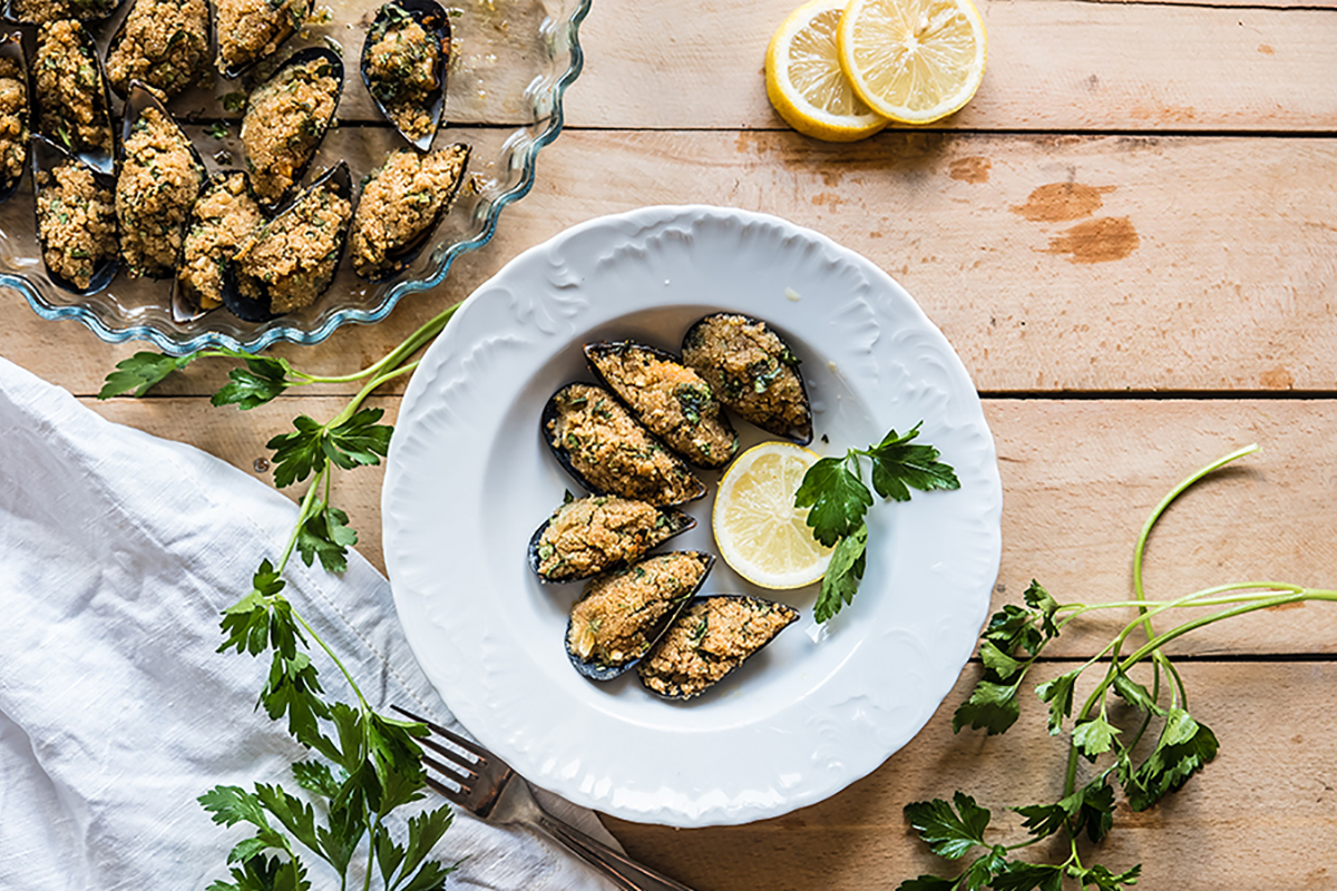 ricette di pesce cozze gratinate