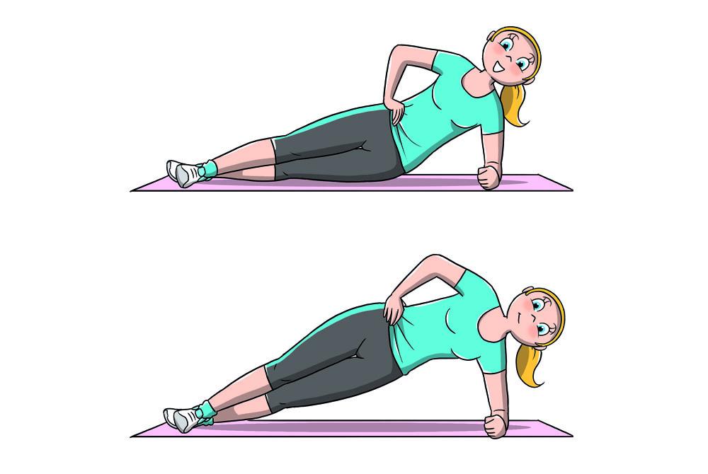 allenamento 7 minuti: side plank