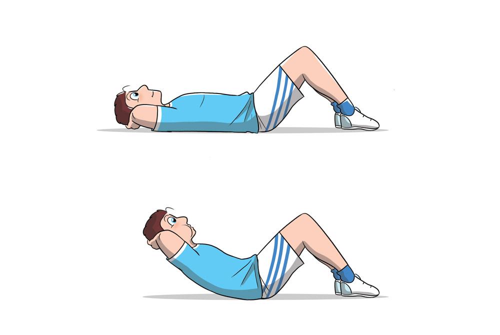 allenamento 7 minuti crunch