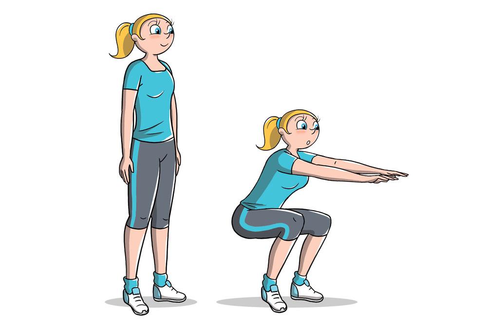 allenamento 7 minuti: squat