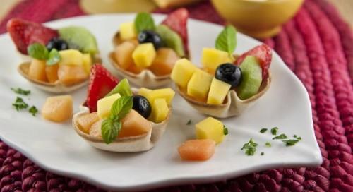 cestini dolci con frutta