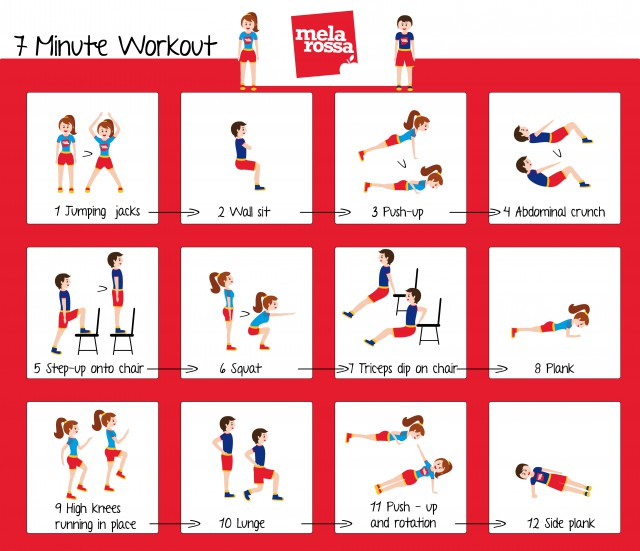 12 esercizi in 7 minuti: workout