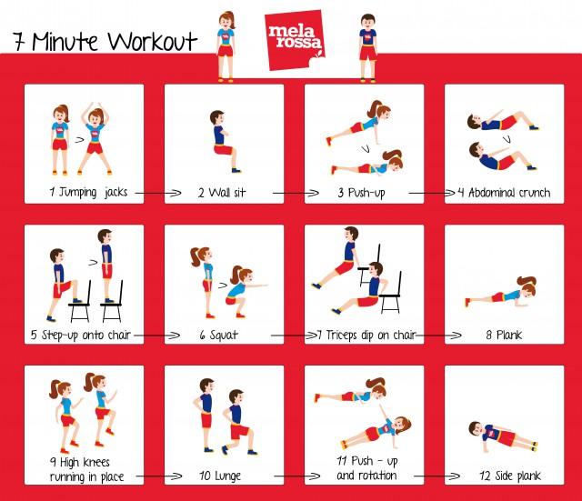12 esercizi in 7 minuti: workout