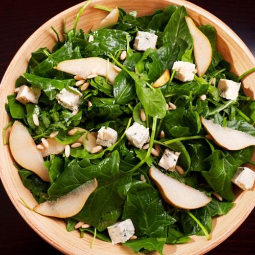 insalata spinaci pera
