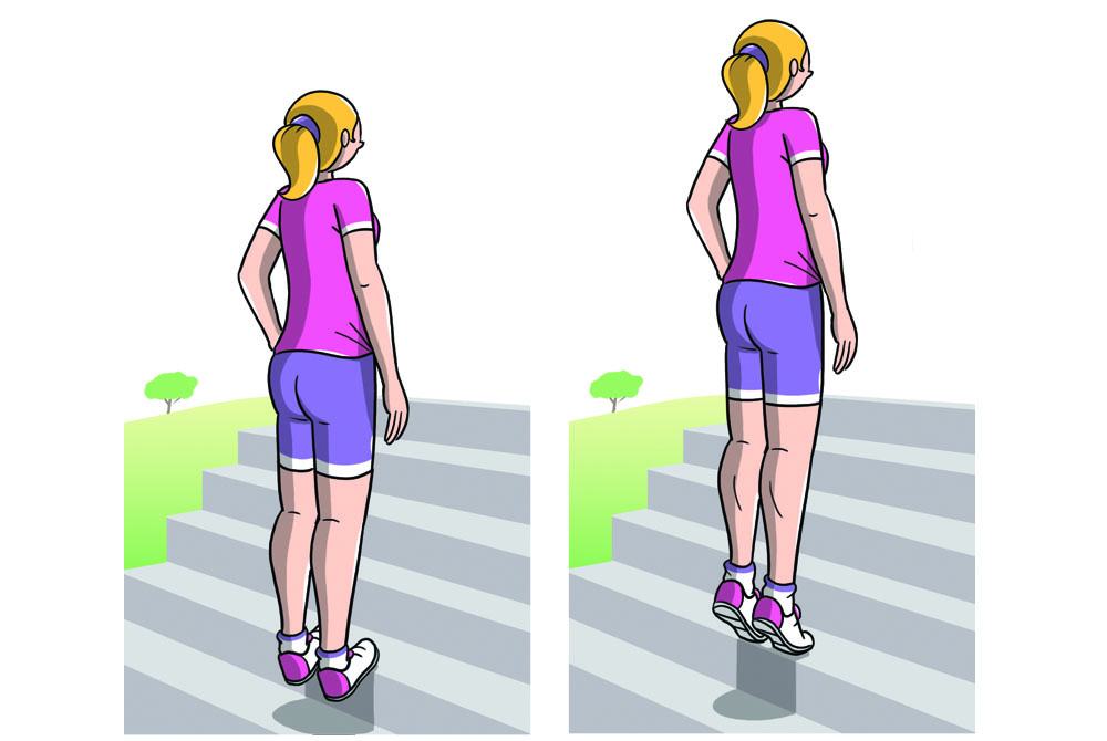 riscaldamento muscolare: esercizi polpacci