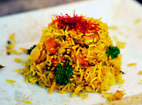 riso verdure curcuma