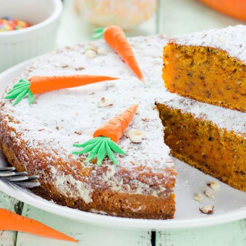 torta con farina di grano saraceno carote