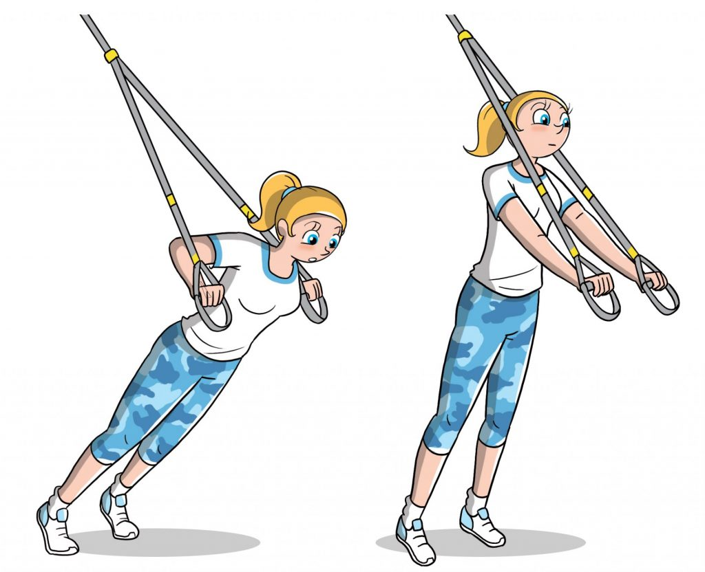 TRX: chest press