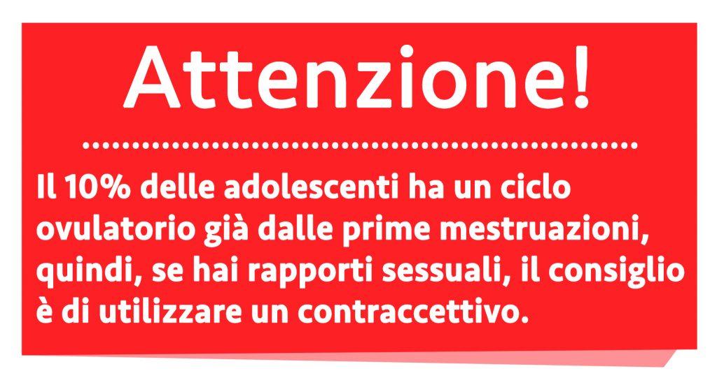 ciclo mestruale nell'adolescenza: attenzione gravidanza