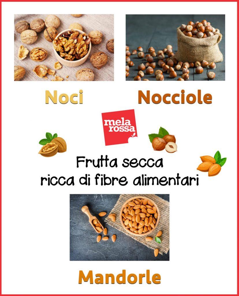 frutta secca ricca di fibre alimentari