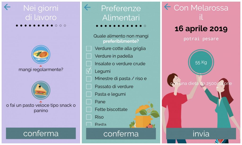 app melarossa, step 6