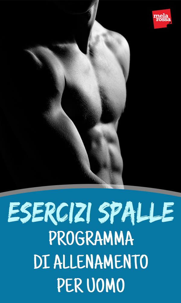 esercizi spalle: programma di allenamento uomo da fare in casa