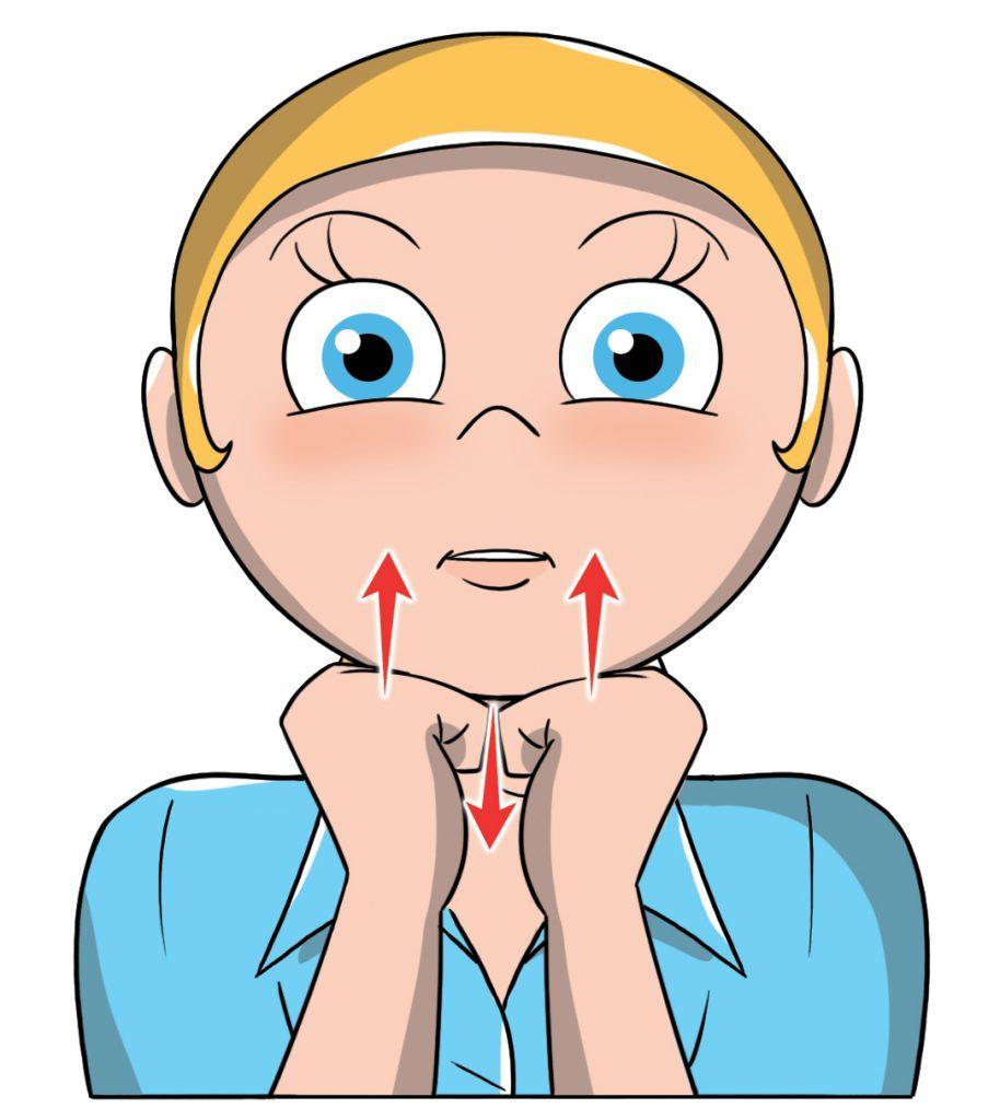 ginnastica facciale: doppio mento
