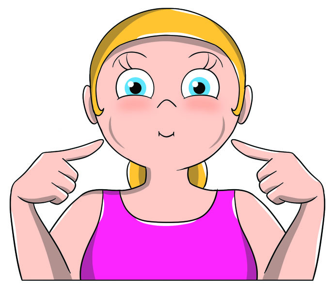 ginnastica facciale: rughe del sorriso